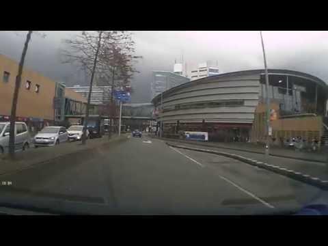 Drive to Alexandrium Mall at Rotterdam 2015 Nov