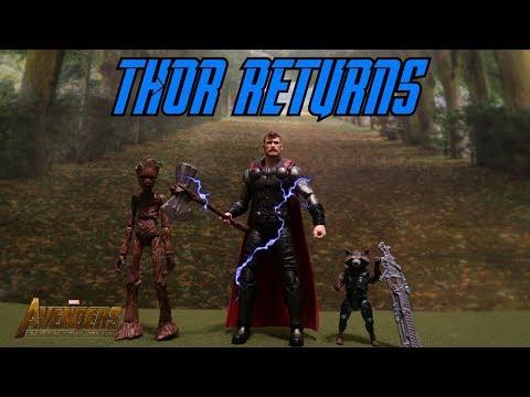 Thor arrives in Wakanda! - Avengers Infinity War Stop Motion