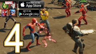 MARVEL Strike Force Heroes Android iOS Walkthrough - Part 4 - …