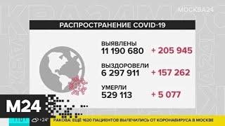 В мире зафиксировано более 11 млн случаев коронавируса - Москва 24