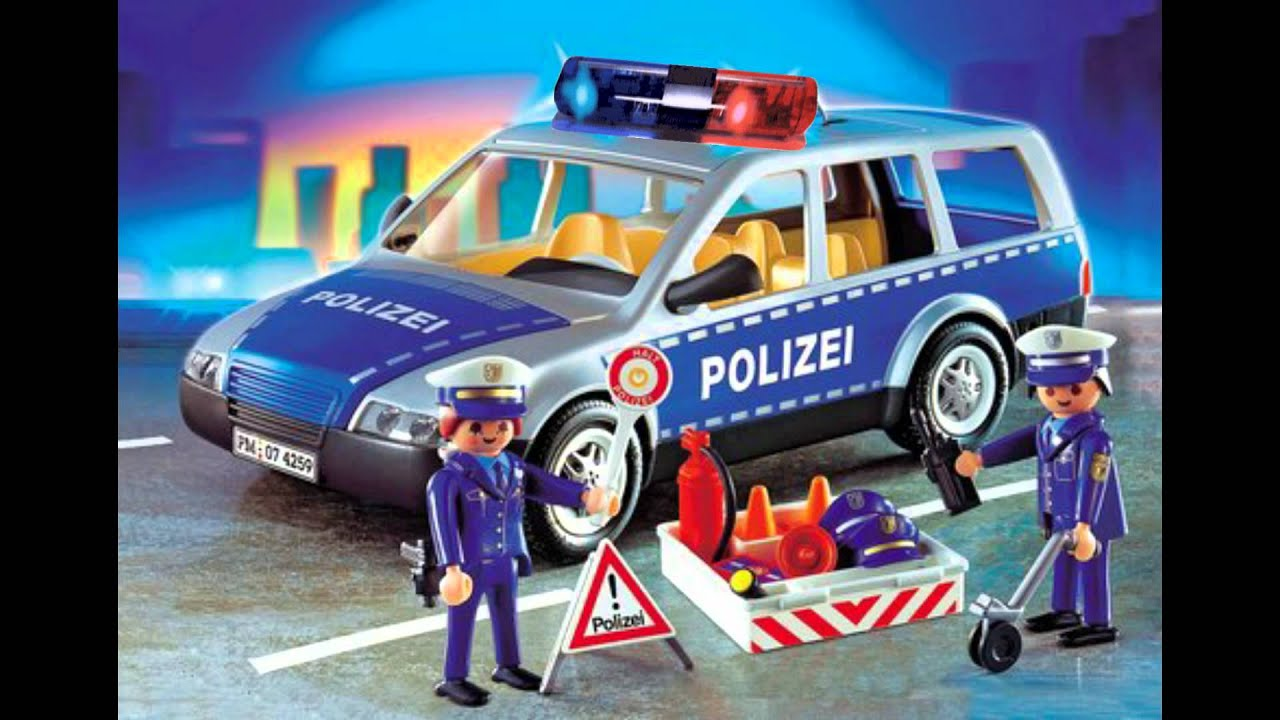 playmobil polizeiauto mit amerikanischem blaulicht youtube. Black Bedroom Furniture Sets. Home Design Ideas