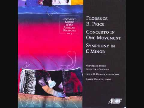 FLORENCE B. PRICE: Piano Concerto in One Movement (1934) - First Section