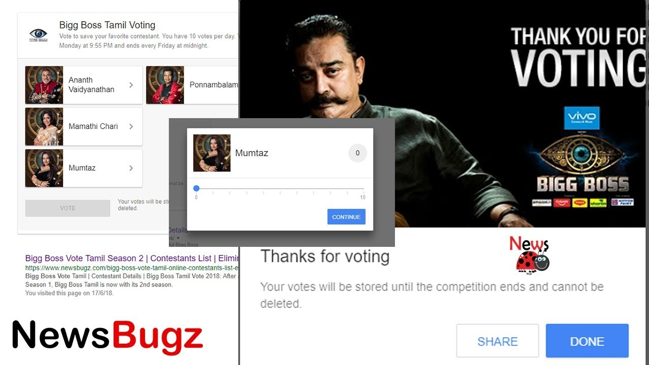 How to Vote Bigg Boss Tamil Season 2