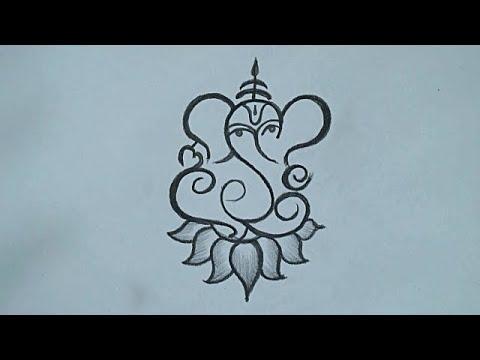 Ganesha Pencil Drawing Easy Drawing For Ganesh Chaturthi 2020 Simple Ganesha Drawing Youtube