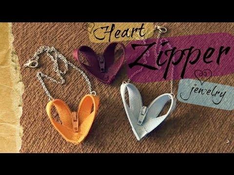 DIYHeart Zipper JewelryYouTube