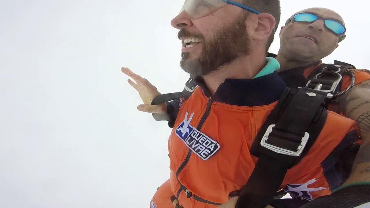 Salto de Paraquedas do Jose A na Queda Livre Paraquedismo 22 01 2017