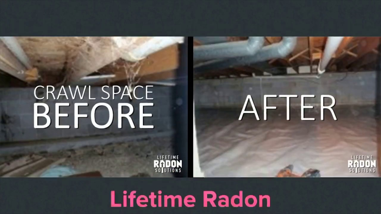 Radon Mitigation System In Crawl Space Waukesha Wisconsin