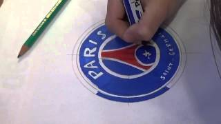 How to draw logo psg