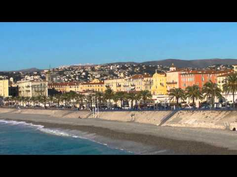 Nice, France, Promenade des Anglais and the Mediterranean