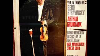 Stravinsky / Arthur Grumiaux, 1968: Violin Concerto in D - Complete - Ernest Bour