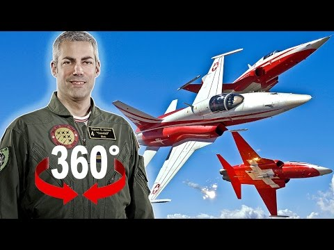 360° cockpit view | Pilot «Gandalf» explains how to fly a fighter jet