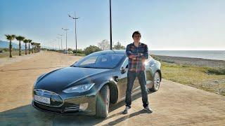 Tesla Model S тест драйв.  Обзор и отзыв владельца Тесла модель с. Семейный...