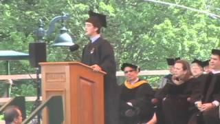 Anders E. Schneider, Phi Beta Kappa Speaker: Williams Commencement 2012
