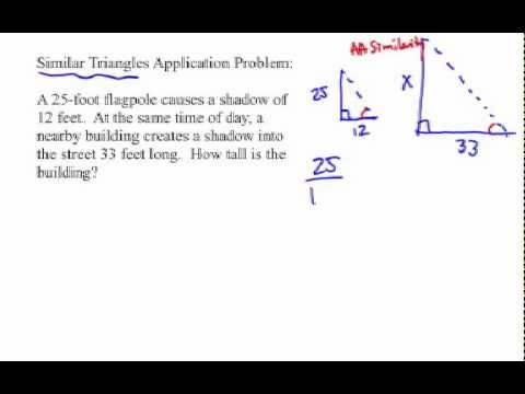 How To Solve Similar Triangle Application Problems Flagpole Shadows