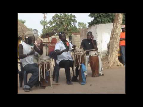 Traditional Serere Drumming and Dance - Mariage at Fandene near Thies Senegal