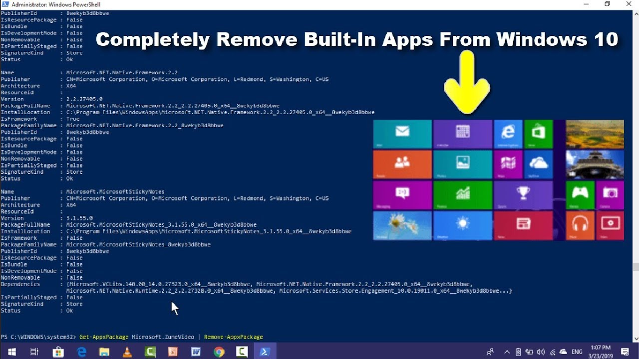 How to Uninstall Builti-In Apps Using Windows PowerShell in Windows 10