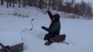 Зимняя рыбалка  Озеро Шамсутдин  Январь 2016 г