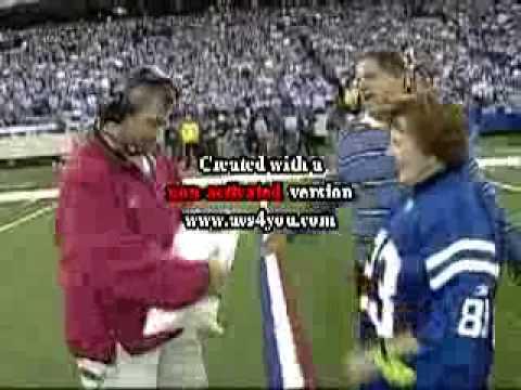 """Indianapolis Colts 12th """"Man"""" MNF, November, 2005"""