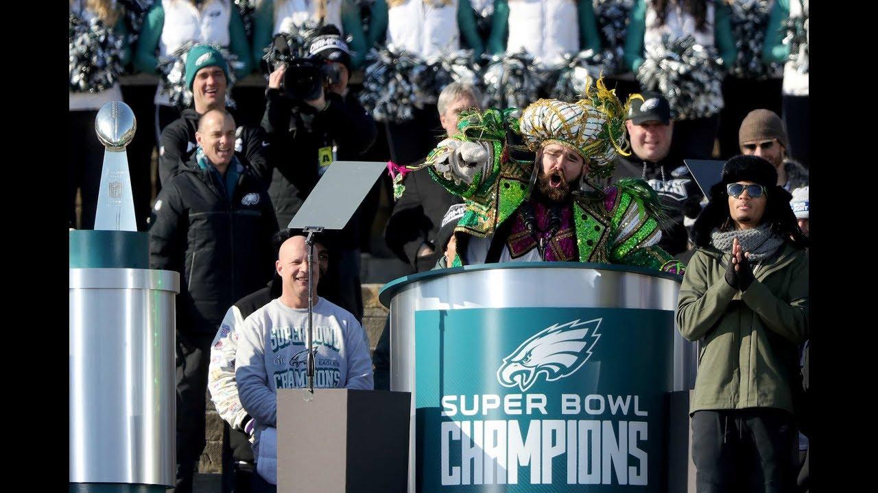 00c61fb52c5e44 Jason Kelce's full speech at Eagles parade - YouTube