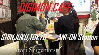 LUNCH WITH BIYOMONS VA?! (DIGIMON CAFE) Adventures in Japan
