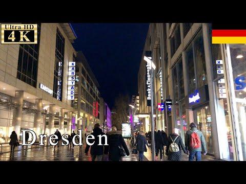 🇩🇪Dresden Night Walk - Prager Street -【4K 60fps】