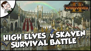 Epic Skaven v High Elves Choke Point Siege Battle - Total War WARHAMMER 2 Gameplay