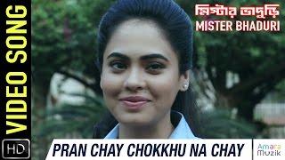 Pran Chay Chokkhu Na Chay Video Song || Mister Bhaduri Bangla MOvie 2016 | Rahul …