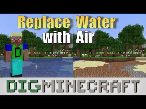 How to Use the Fill Command to Replace Water with Air in Minecraft