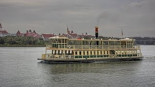 Ferry Boat ride to the Magic Kingdom Walt Disney World HD