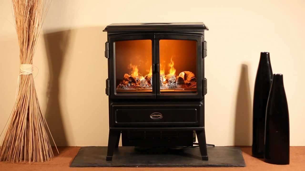 Dimplex Oakhurst - the authentic looking Opti-myst stove - YouTube