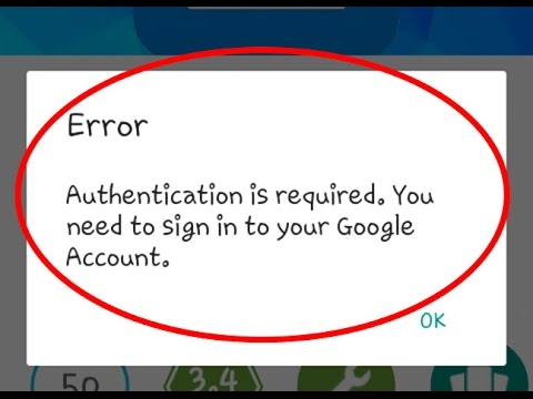 "Fix ""Authentication Is Required.You Need To Sign In To Your Google Account"" In Google Play Store"