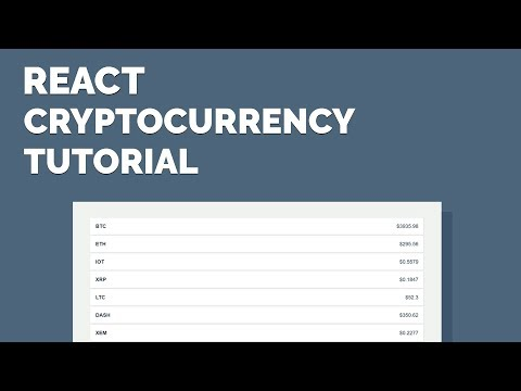 React CryptoCurrency Tutorial - Display Exchange Data with an API