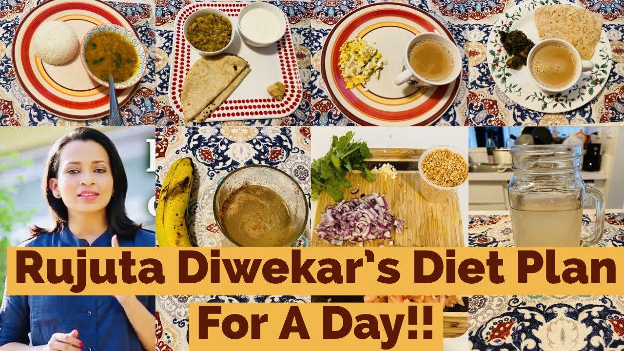 I Tried RUJUTA DIWEKAR'S Weight-Loss Diet plan for a day / RUJUTA DIWEKAR'S Healthy Indian diet plan