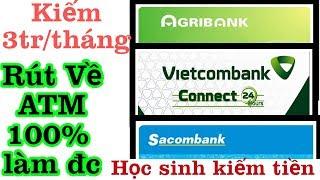 Kiếm Tiền Online Trên Điện Thoại 3tr/Tháng Rút Về ATM. Make Money Online Nhanh Đơn Giản