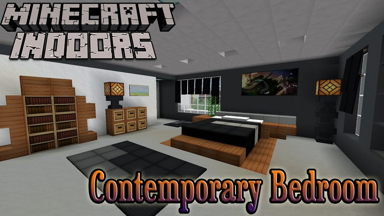 Minecraft indoors interior design contemporary bedroom for Dining room designs minecraft