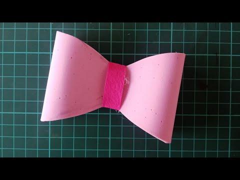 How To Make :Felt  Hair Bow - Hairclip   DIY  Handmade