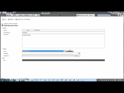 Introduction to CRM 2013 Web Resources