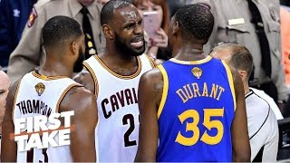 Should Warriors be more concerned with Cavaliers after trading Kyrie? | First Take | ESPN