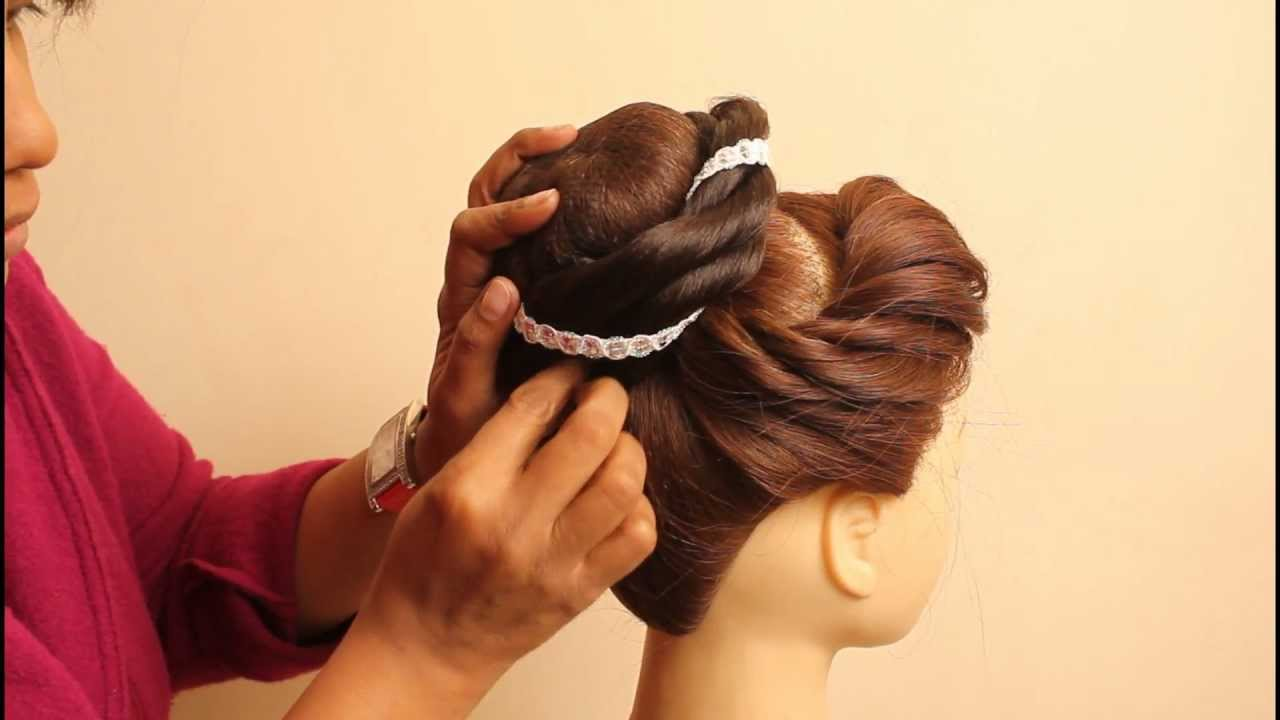 side choti hair style indian bridal hairstyles by estherkinder 6955