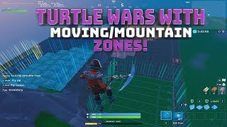 Turtle Wars with Moving Zones + Mountain Zones! Code in Description! - (Fortnite Battle Royale)