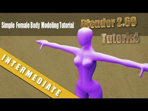 Simple Base Female Human Modeling Tutorial in Blender 2.69