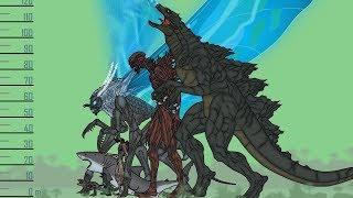 Размеры монстров (ASM) 3/ Monsters Size Comparison (ASM) 3 - Shin Godzilla, Mothra, Baby Godzilla