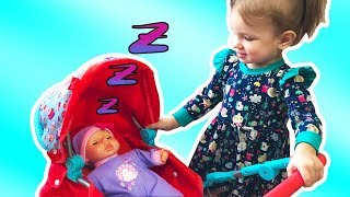 Funny Essy playing with Baby doll / Children pretend play with toys