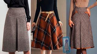 ТЕПЛЫЕ ЮБКИ ИЗ ДРАПА 2021 мода для женщин за 50