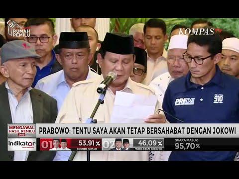 Prabowo: Tentu Saya Akan Tetap Bersahabat dengan Jokowi-Ma'ruf