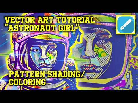 "VECTOR ART TUTORIAL ""ASTRONAUT GIRL"" PATTERN SHADING/COLORING || INFINITE DESIGN thumbnail"