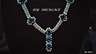 How to make pearl necklace . Easy tutorial