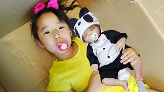 수지가 쌍둥이? 아기돌보기 동생돌보기 장난감 놀이 Su…