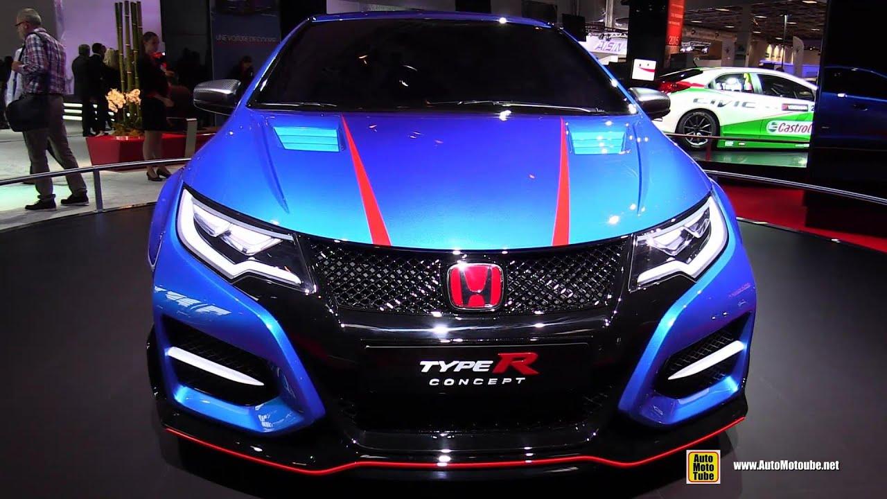 Honda civic tourer concept pictures auto express - 2015 Honda Civic Type R Concept Exterior Walkaround 2014 Paris Auto Show Youtube
