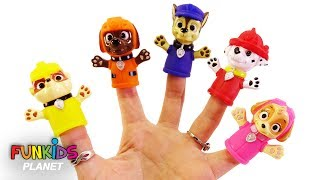 Paw Patrol Family Finger Song With Paw Patrol Finger Puppets